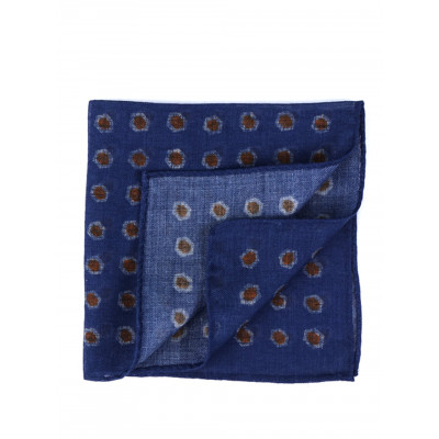 SILK/WOOL POCKET SQUARE