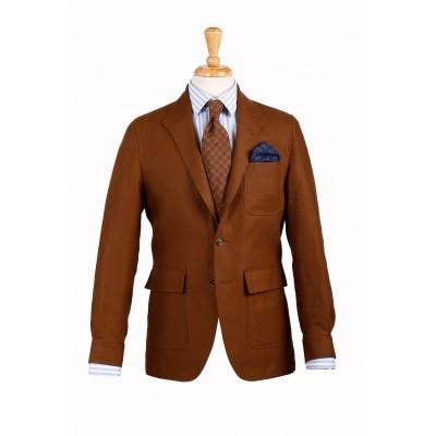 Teba Conor.  3roll2 en lino irlandés, color Tobacco. Una elegante opción para el verano.