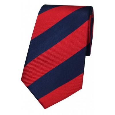 Corbata de rayas club marino y rojo
