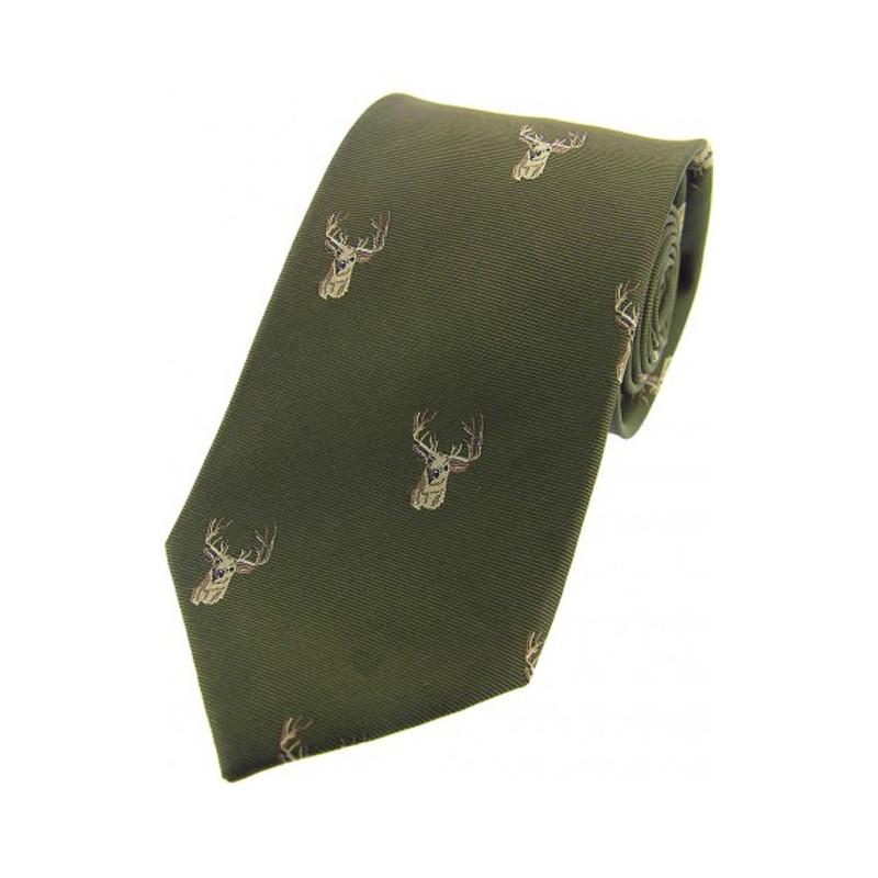 Woven Silk Tie Stag