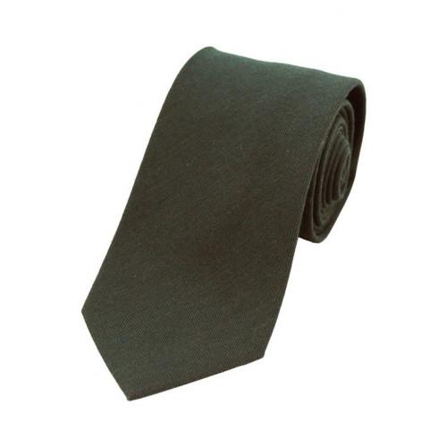 Wool Mix Tie Moss