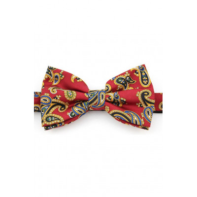 Bow Tie Red Paisley