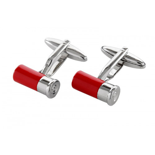 red cartridge cufflinks