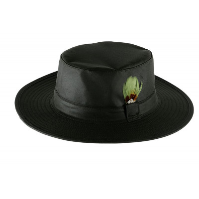 Green wax hat
