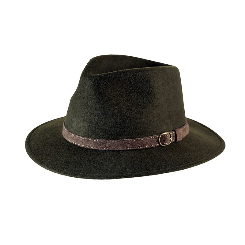 Epsom Verde.  Bonito sombrero de fieltro indeformable e impermeable