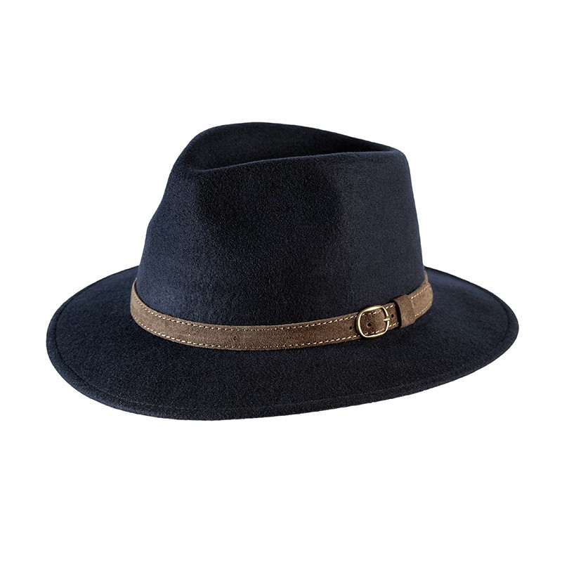 Sombrero indeformable y impermeable.  Epsom navy.