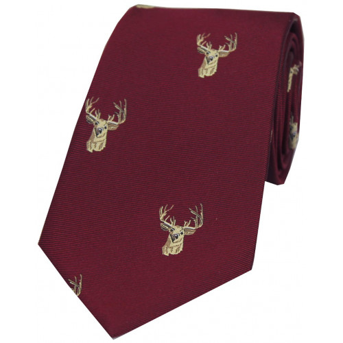 Woven Silk Tie Stag WC90