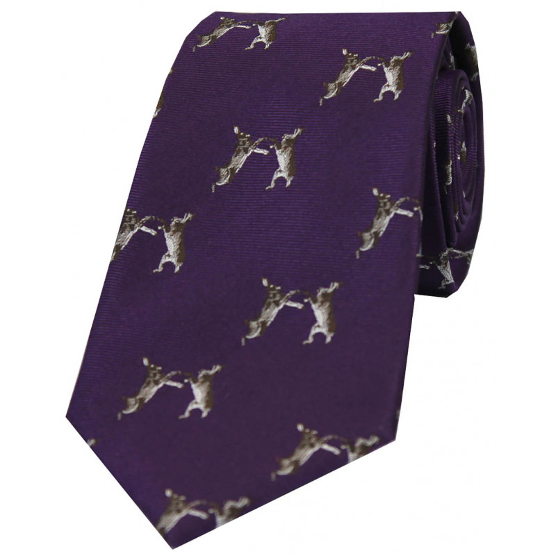 Woven Silk Tie Hares WC92