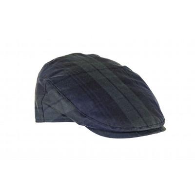 Charles waxed cotton cap in Black Watch tartan.
