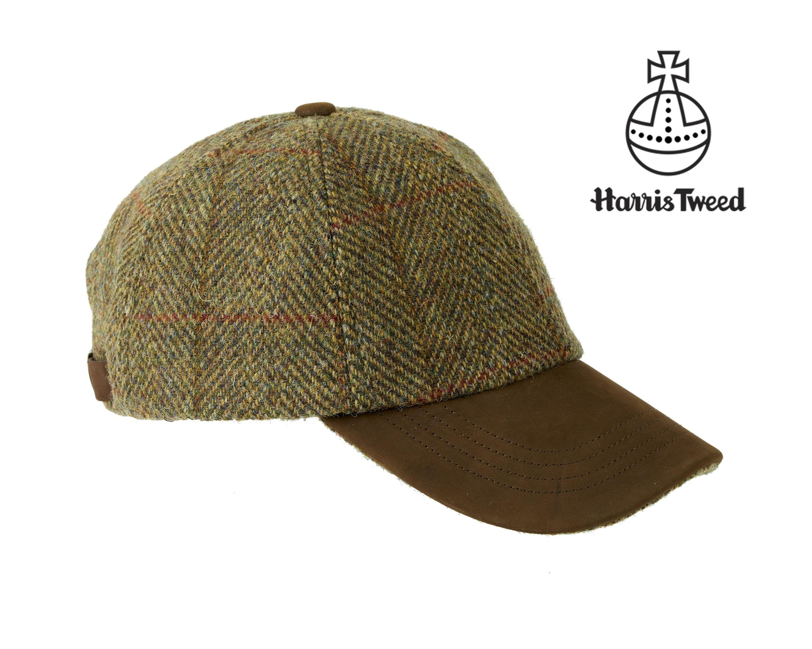 ae67bee0ebe2a6 Glencairn Harris Tweed baseball cap