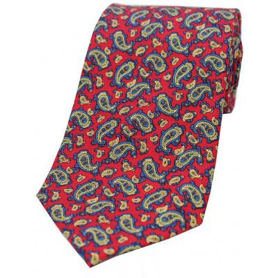 Red Paisley Silk Tie