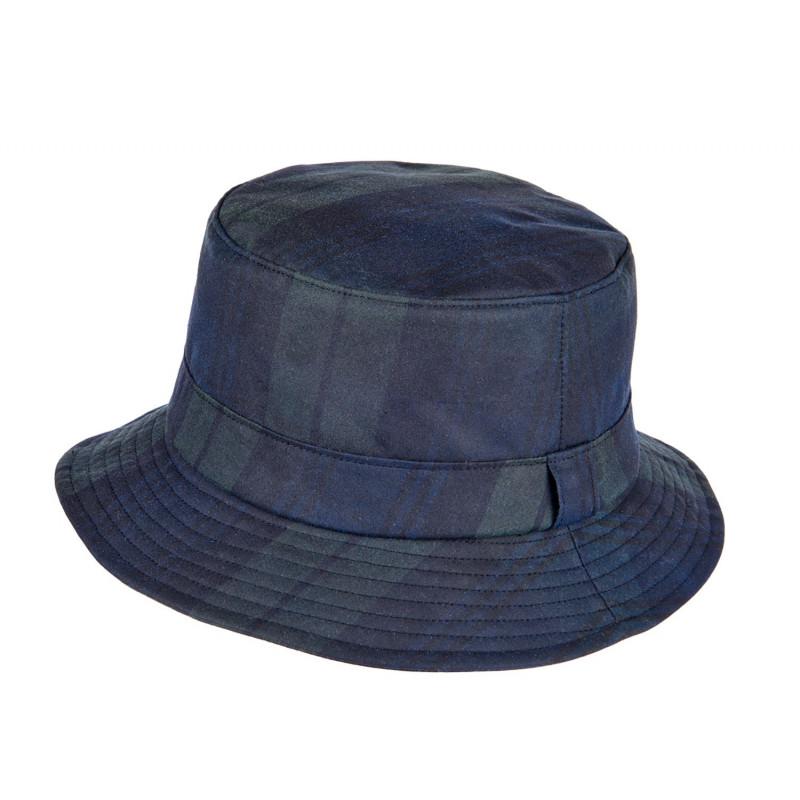 CHARLES WAX HAT IN BLACK WATCH TARTAN