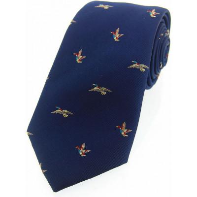 Woven Silk Tie  Ducks
