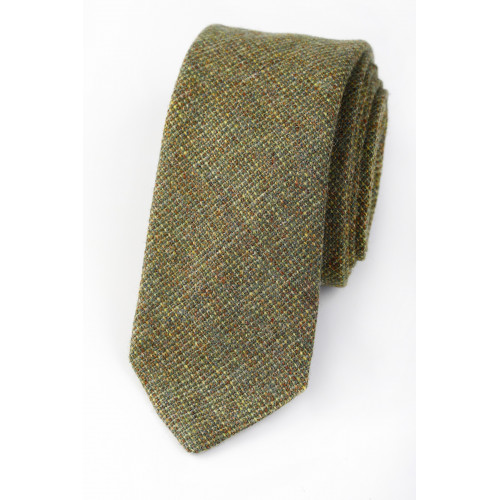 Wool Mix Tie Olive