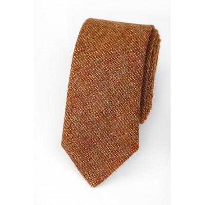 Pure Wool Tie Rust