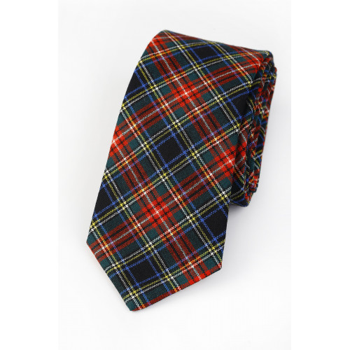 Pure Wool Tie Black Stewart