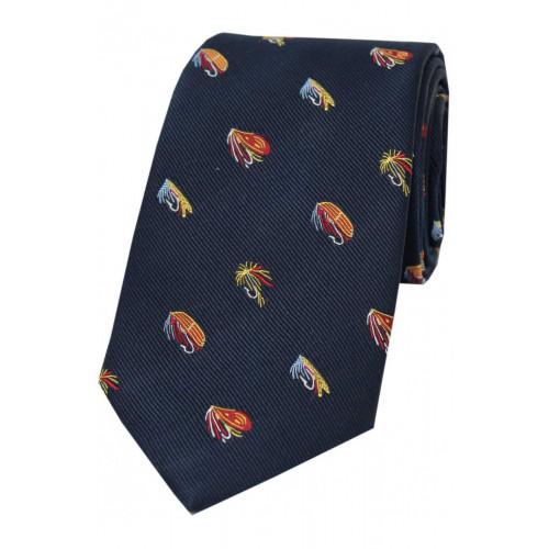 Woven Silk Tie Tied Fly