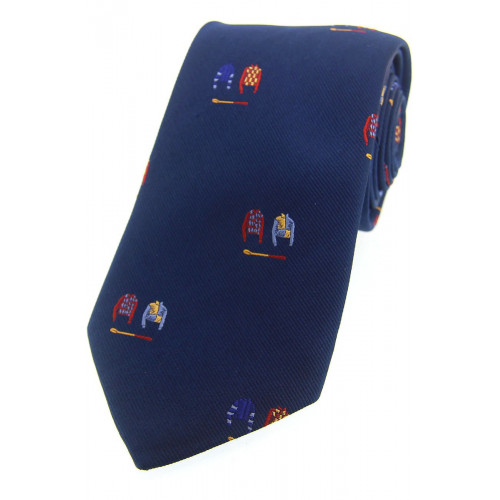 Woven Silk Tie Racing Colours