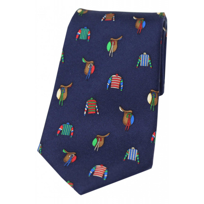 Printed Silk Tie Jockey