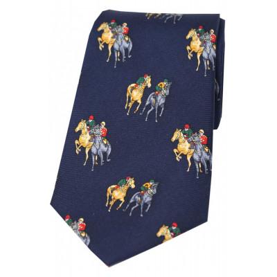 Woven Silk Tie Racehorses