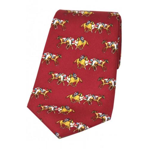 Corbata Seda Carreras Roja
